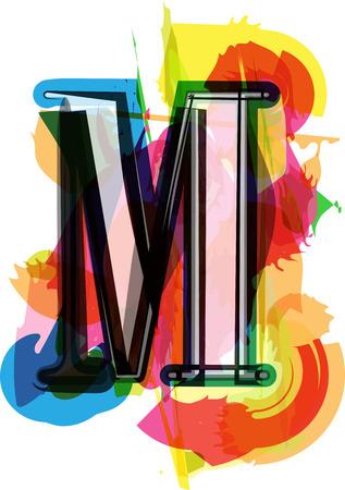 letra m: Art�stica del vector de fuente Ilustraci�n - Letra M Vectores