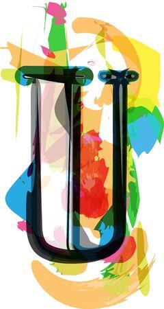 Artistic Font vector Illustration - Letter U Ilustração