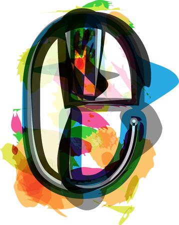 letter e: Artistic Font vector Illustration - Letter e