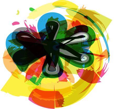 asterisk: Artistic Symbol vector illustration