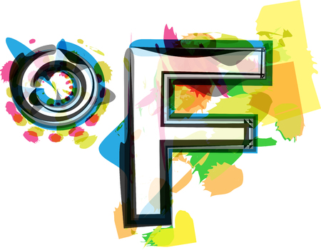 fahrenheit: Artistic Fahrenheit Symbol vector illustration