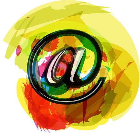 arobase: Artistic at Symbol vector illustration
