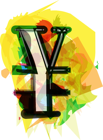 yen sign: Artistic Yen sign vector illustration
