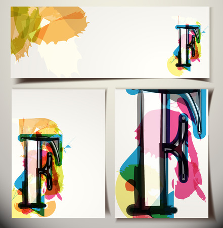 letter f: Artistic Greeting Card Font vector Illustration - Letter F Illustration