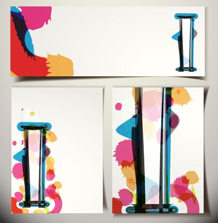 letter i: Artistic Greeting Card Font vector Illustration - Letter I