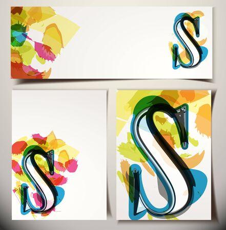 lettre s: Carte de voeux artistique police vecteur Illustration - Lettre S