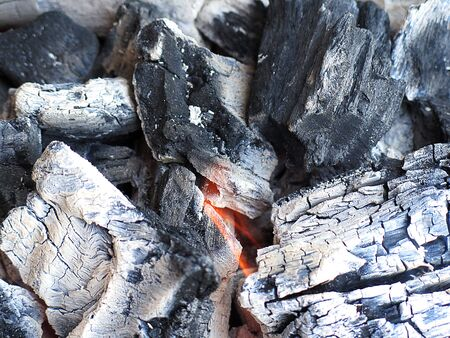 BBq ready Hot carbon Stock Photo