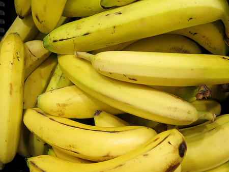 bannana: bannana close up, delicious tropical fruit Stock Photo