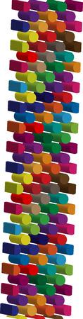 three dimension shape: Colorful three-dimensional font letter l