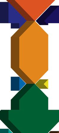 letter i: Colorful three-dimensional font letter I