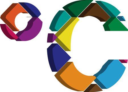 three dimension shape: Colorful three-dimensional celcius Symbol
