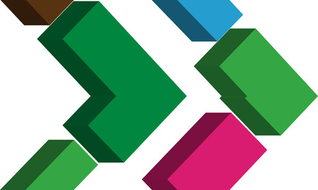 punctuation mark: S�mbolo colorido de la fuente tridimensional Vectores