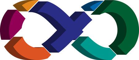 punctuation mark: Colorido tridimensional del s�mbolo del infinito de la fuente Vectores