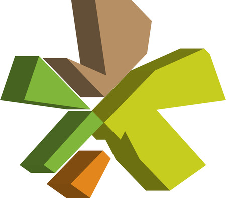 asterisk: Colorful three-dimensional ASTERISK Symbol Illustration