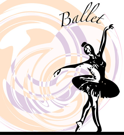 stage costume: abstract sketch of beautiful ballerina