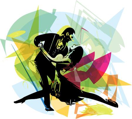 Abstract illustrazione di Latino Dancing couple Archivio Fotografico - 41737092