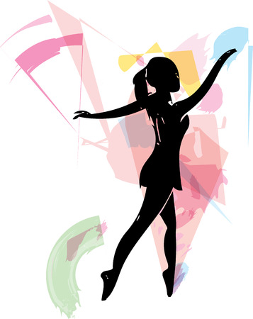 choreography: abstract sketch of beautiful ballerina