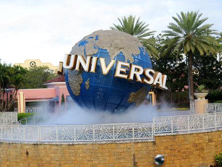studios: Entrance of the Universal Studios, Orlando, Florida, USA