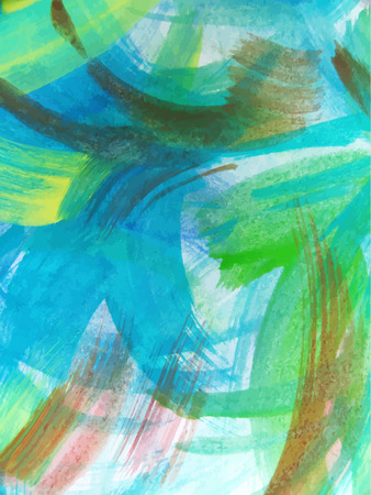 painted background: Colorful Abstract watercolor painted background Vector Illustration