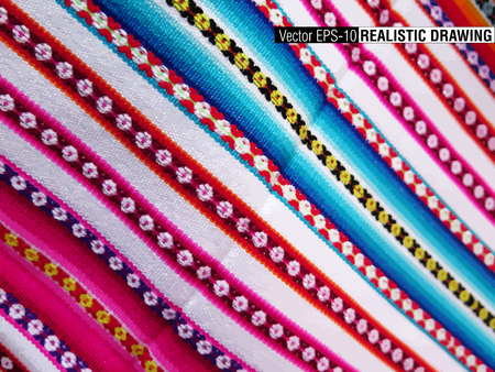 paracas: South America Indian woven fabrics colorful background