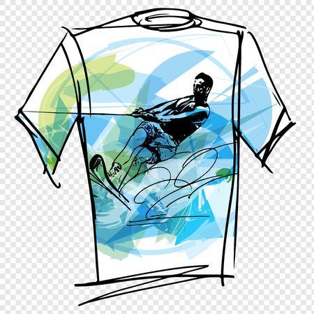 wet shirt: Sport tee vector illustration