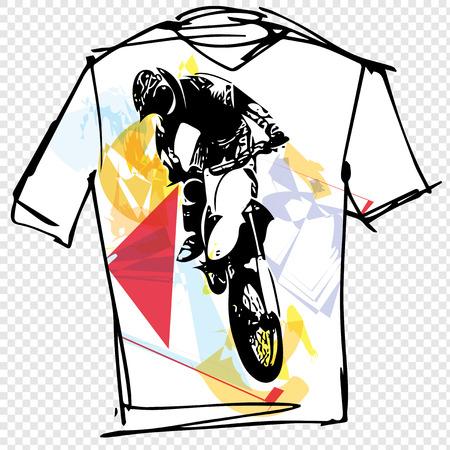 tee: Sport tee vector illustration