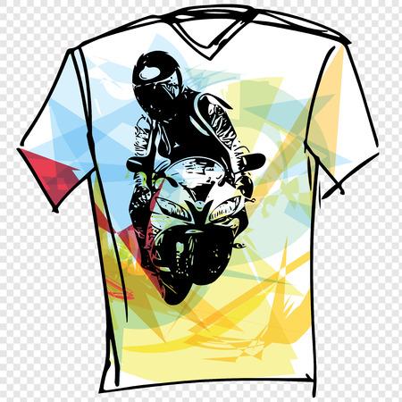 menswear: Sport tee vector illustration