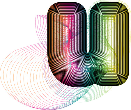 Abstract colorful Letter u. Vector Illustration Ilustração