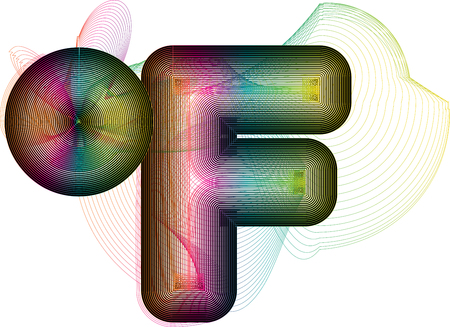 coldness: Abstract colorful Fahrenheit Symbol Illustration