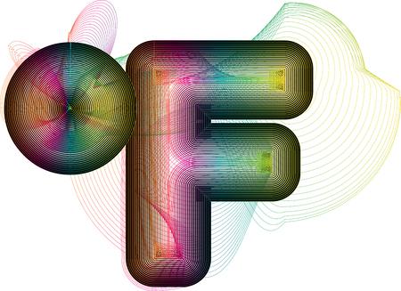 fahrenheit: Abstract colorful Fahrenheit Symbol Illustration
