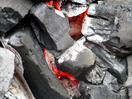 briquettes: closeup charcoal barbecue briquettes Stock Photo