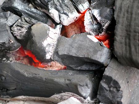 closeup charcoal barbecue briquettes Stock fotó