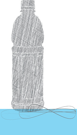 water bottle illustration Illustration