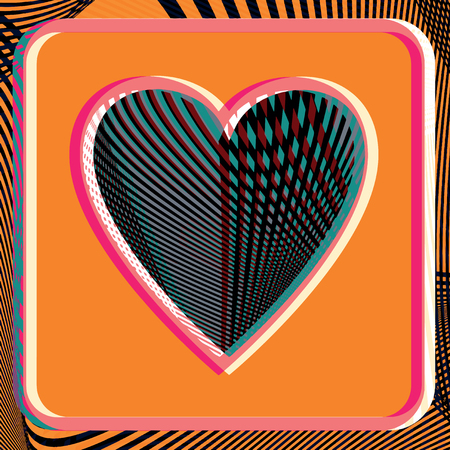asymmetrical: Abstract Heart illustration
