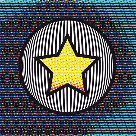 Abstract background with Star on a Circle. Vector Illustration