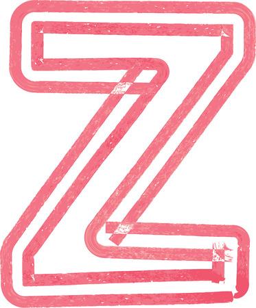 letter z: Capital letter Z vector illustration