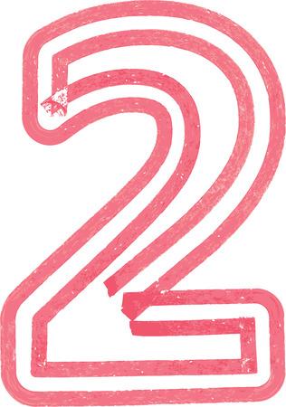number 2: Number 2 vector illustration