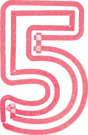 number 5: Number 5 vector illustration Illustration