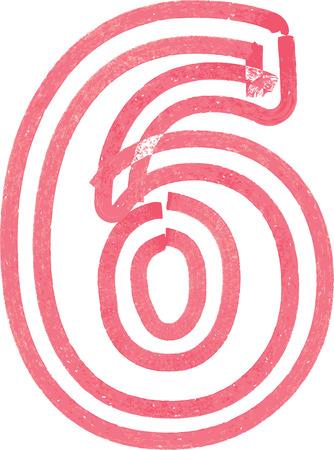 number 6: Number 6 vector illustration