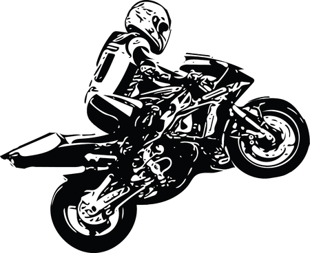 abstract ilustration of Extreme motocross racer by motorcycle