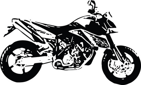 #73479893   Abstract Ilustration Of Motorcycle On Black