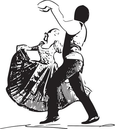 bandera de peru: Ilustración de la pareja de baile. Ilustración del vector