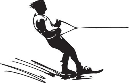 3 734 water ski cliparts stock vector and royalty free water ski rh 123rf com slalom water skiing clipart Water Skiing Divider