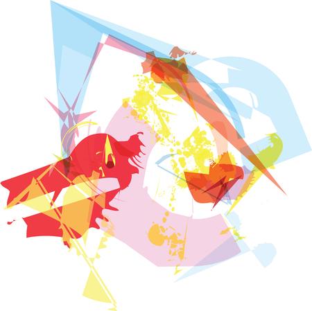 designelement: Trendy colorful transparent shapes abstract background illustration Illustration