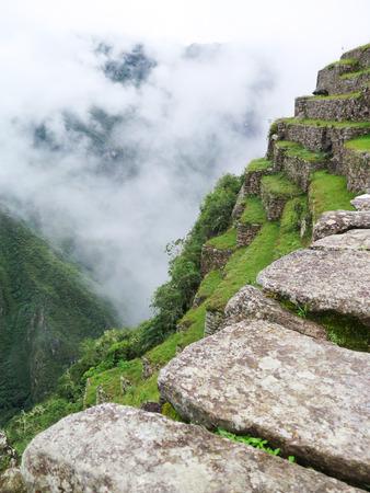 terraces and ancient houses Machu Picchu Cusco-Peru