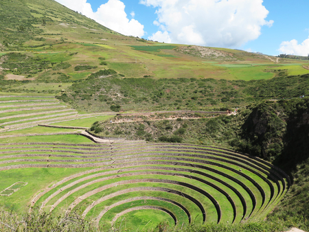 probable: Peru, Moray, ancient Inca circular terraces Probable there is the Incas laboratory of agriculture, Sacred Valley, Cusco