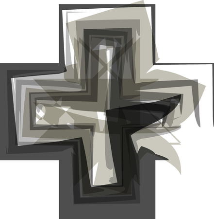 opportunity sign: Abstract cross Symbol illustration