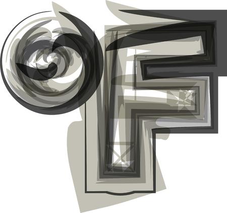 fahrenheit: Abstract Fahrenheit Symbol illustration