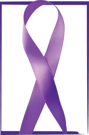 Purple ribbon. General Cancer Awareness. Lupus awareness. Drug Overdose Awareness. Alzheimers Disease awareness. Vector illustration Illustration