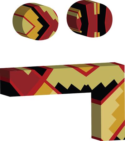 Kleurrijk driedimensionaal doopvontsymbool Stock Illustratie
